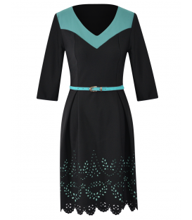 Anastasia 07 - negru-turquoise