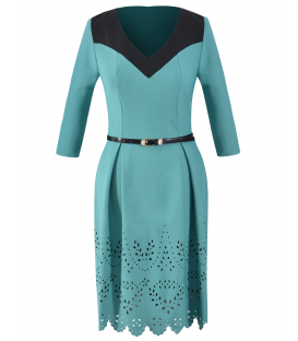 Anastasia 06 - turquoise-negru
