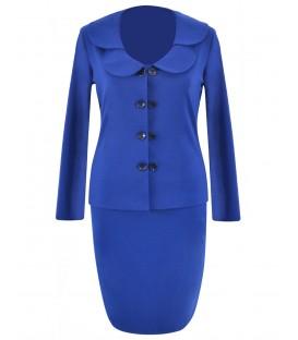 Costum-dama jerse-albastru