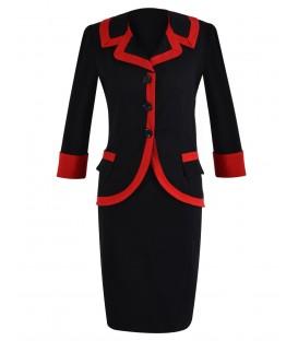 Costum dama negru-rosu