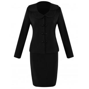 Costum stofa negru