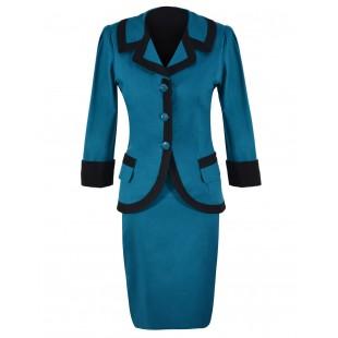 Costum dama turquoise