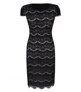 Michelle-negru - mânecă scurtă