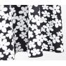 Amalya Imprimat 11-negru cu flori albe