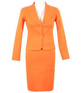 Costum bumbac-portocaliu