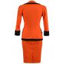 Costum-de-zi bumbac orange-negru