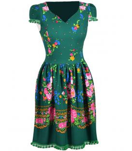 Rochie-de-zi-traditionala-verde-Daciana
