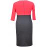 Rochie-office-jerse-rosu-negru