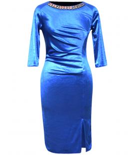 Rochie-de-ocazie-catifea-albastru-Dana
