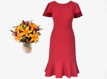 rochie-cu-volane-rosie