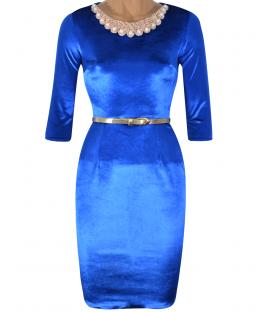 Rochie-de-ocazie-catifea-albastru-Cleopatra