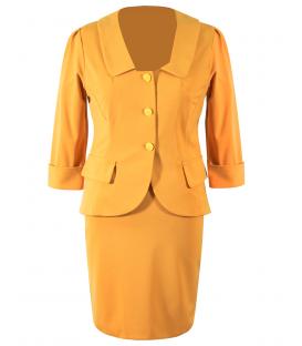 Costum-dama jerse-mustar