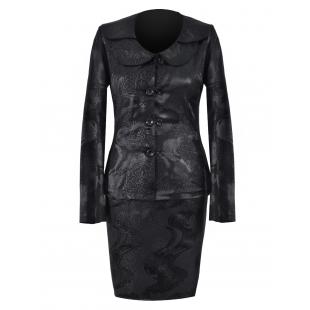 Costum din jacard negru