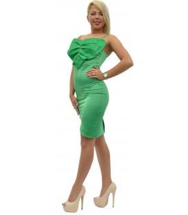 Rochie bumbac-satinat verde
